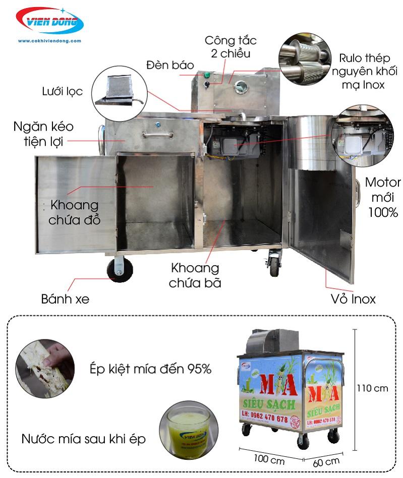 Máy nước mía ép 2 cây X4-500