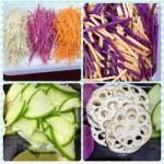 Máy thái rau củ quả VC và bộ lưỡi cắt đa năng cho bếp ăn công nghiệp