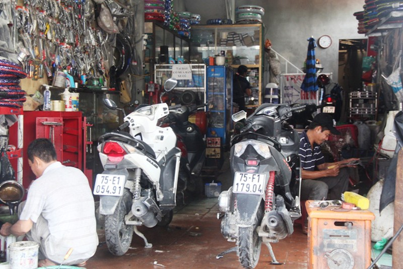 mở trung tâm sửa chữa xe máy
