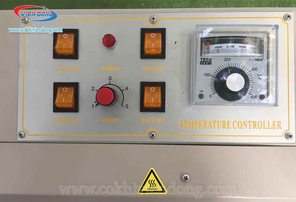 Bảng điều khiển của máy hàn miệng túi RFD 1000