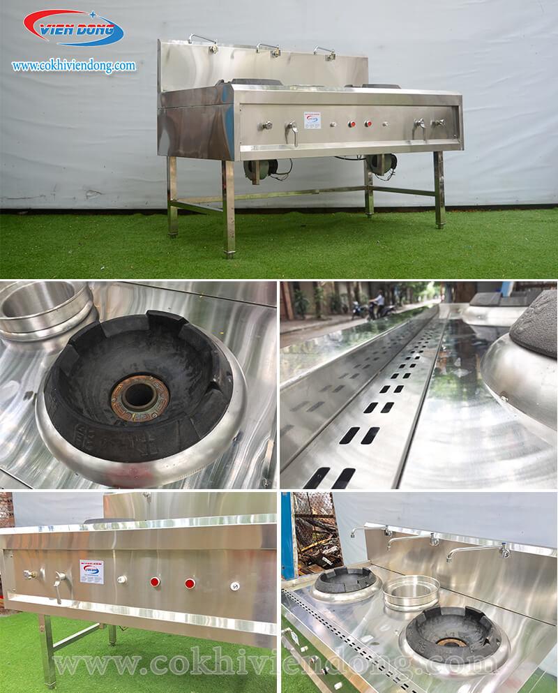 cấu tạo bếp á 2 họng gas