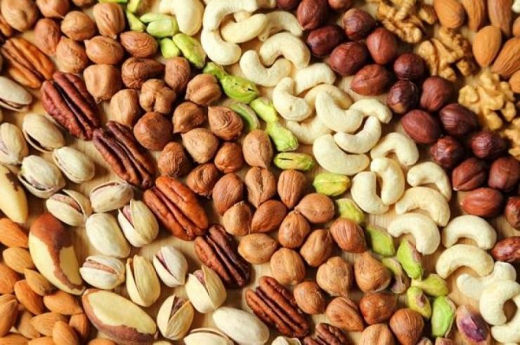 các loại hạt nông sản sử dụng để rang