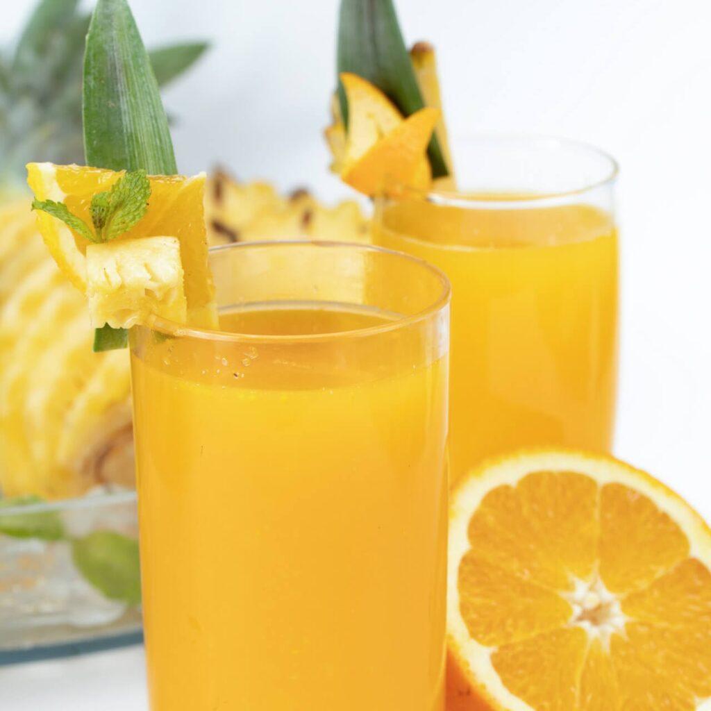 Nước ép dứa mix cam